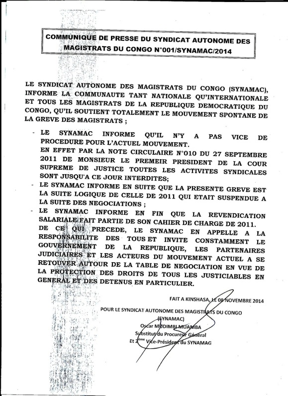 Communique SYNAMAC sur la greve des magistrats0004