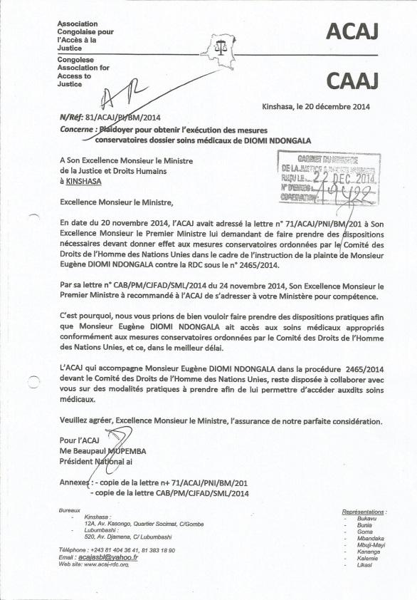 lettre acaj au ministre de la justice 201214
