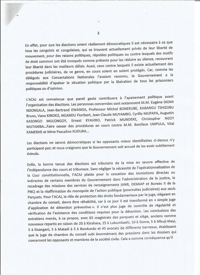 lettre acaj matata 17.02.15 2